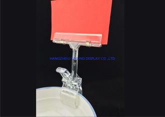 Çin POP Clear Plastic Price Tag Holder Clip ABS Custmized Color for Goods Exhibitions Fabrika