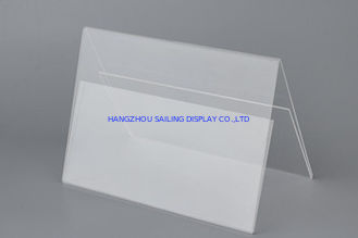 Çin Acrylic Transparent Sign Stand Display Holder free standing for outdoor Fabrika