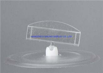 Çin Clear Plastic Clip Sign Holders Display / Price Tag Holder Clip For Store Tedarikçi