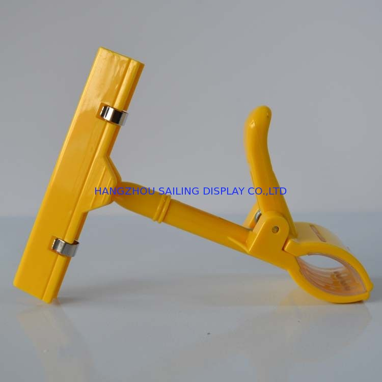 Supermarket Thumb Shape Clips , Price Tag Holder Clip With Universal Joint Tedarikçi