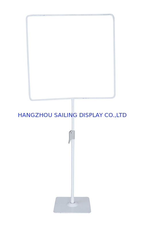 Custom POS Sign Holder 1000 - 1800mm Height , POP Poster Display Stand Tedarikçi